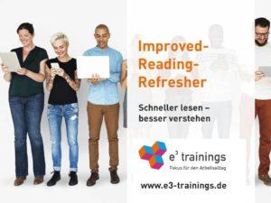 Titelfolie aus Präsentation des Improved-Reading-Refreshers online